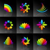 Fototapety Vector Spectral Symbols
