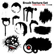Collection of highly detailed vector illustration brushes