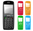 Colorful Isolated Cell Phones