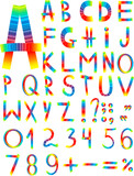 Original multi-coloured font