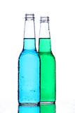 alcohol bottles on white poster