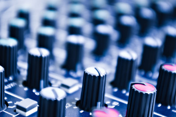 audio mixer knobs