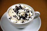 Latte with chocolate sprinkles poster