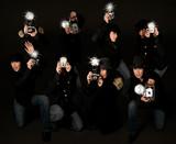 Retro Style Paparazzi Photojournalists poster