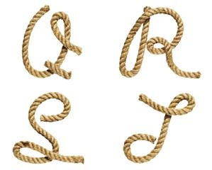 Letter Q, R, S, T