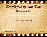 employee of the year poster