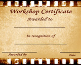 workshop certificate poster