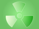 Radiation symbol poster