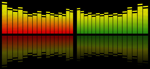 digital sound equalizer background