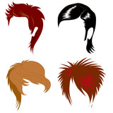 set of men hair styling poster