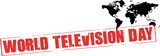world television day rubber stamp