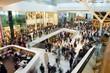 Leinwanddruck Bild - Crowd in the mall