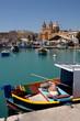 Malta Fischerboote in Marsaxlokk