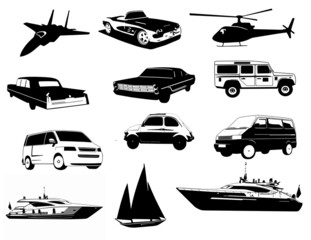 Transport Fahrzeug Set