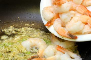 Simmering Shrimp