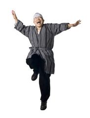 Japenese man jumping