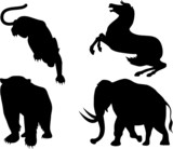 Wildlife silhouettes poster