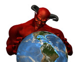 The Devil Rules the World-3D render poster