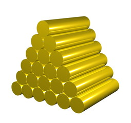 cumulate golden like  cylinders