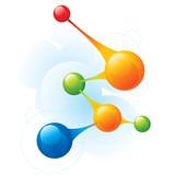 Fototapety Molecule