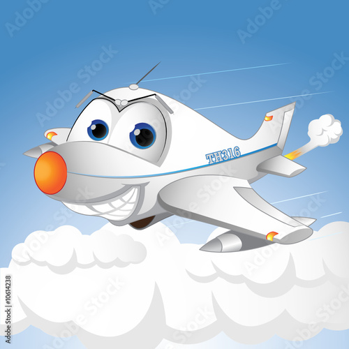happy airplane