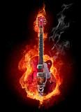 Fototapety Fire guitar