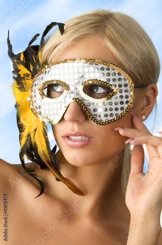 the mask and blond