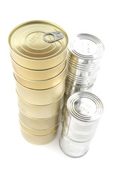 canned-goods on white