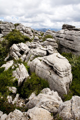 Breathtaking view of reserve El Torcal in Andalucia