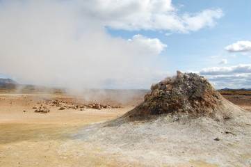 zona volcanica de krafla