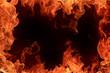 Leinwandbild Motiv Fire frame