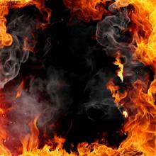 """Постер, картина, фотообои """"Fire frame"""""""