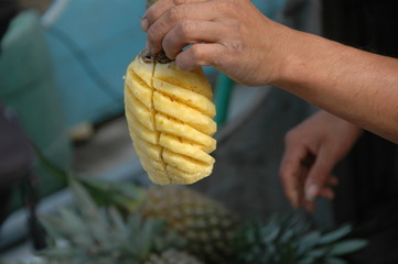 Ananas ready to eat