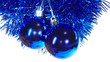 Blue mirror balls - cristmas tree decorations