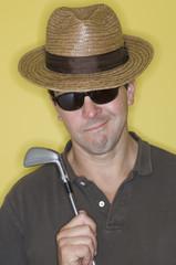 Portrait of a golfer.