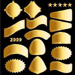 Golden badges and medals 2