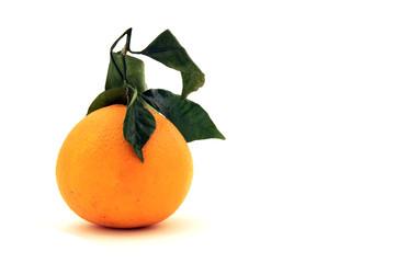 Arancia con foglie