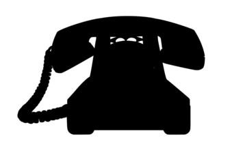 telefono vintage nero