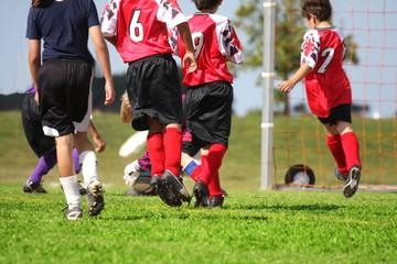 Fighting for soccer ball
