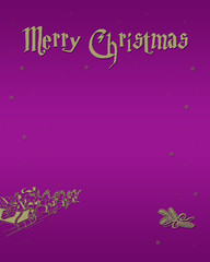 Merry Christmas in gold to magenta