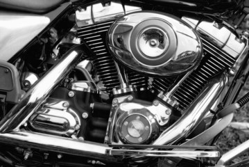 engine of the motorcycle