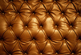 Sepia picture of genuine leather upholstery poster