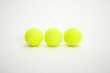 Three balls of tennis
