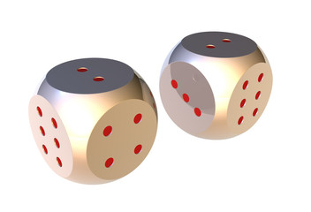 metal two dices