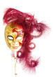 venetian mask on white background