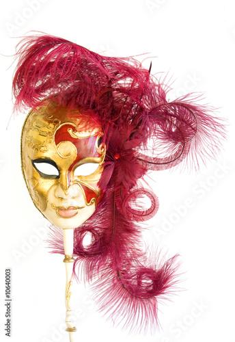 venetian mask on white background