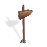 the wooden sign, one direction sign-post, traffic signs,