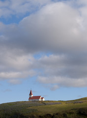 lonely church at Vik in Iceland