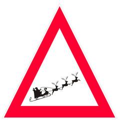 Attenzione babbo natale volante!