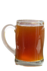mug of kvass isolated  on white